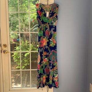 Philosophy maxi floral dress sleeveless NWT $39